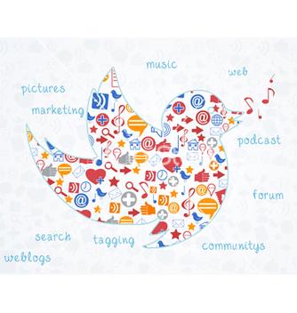 Free social media concept vector - Free vector #243443