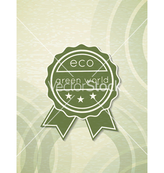 Free eco friendly label vector - vector gratuit #243523