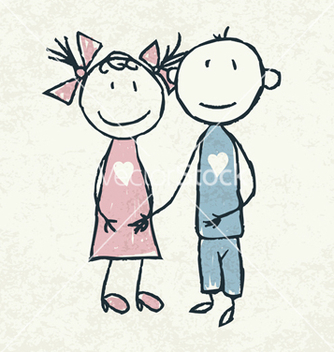 Free couple in love vector - vector gratuit #243773