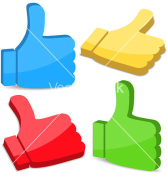 Free 3d thumbs up icons vector - Free vector #243843