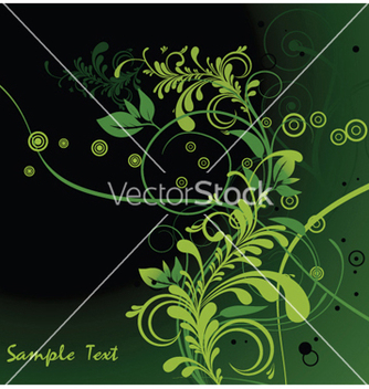 Free floral background with circles vector - Free vector #243863