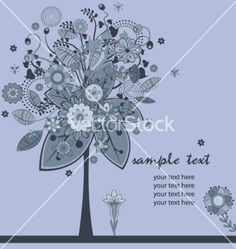 Free floral background with tree vector - Free vector #243903