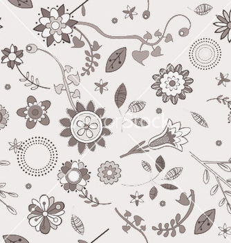 Free floral seamless pattern vector - Free vector #243923