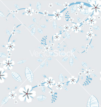 Free seamless floral background vector - Free vector #243933
