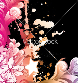 Free watercolor floral vector - vector gratuit #244023