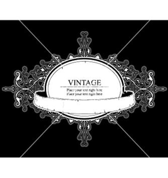 Free retro floral label vector - Free vector #244033