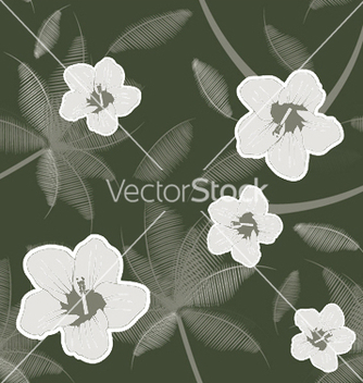 Free seamless floral pattern vector - Kostenloses vector #244223
