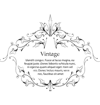 Free vintage floral frame vector - Free vector #244233