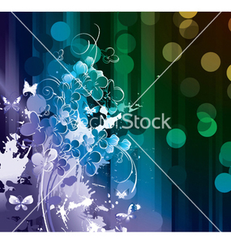 Free splash floral background vector - vector gratuit #244283