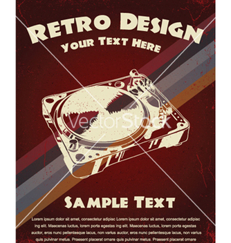 Free retro music poster vector - бесплатный vector #244303