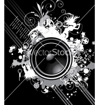 Free music poster with speaker vector - Kostenloses vector #244313
