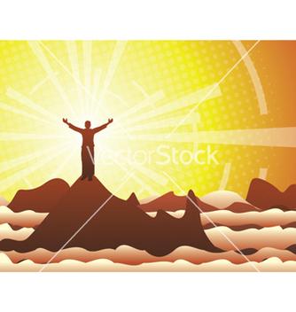 Free mountain man vector - Kostenloses vector #244333