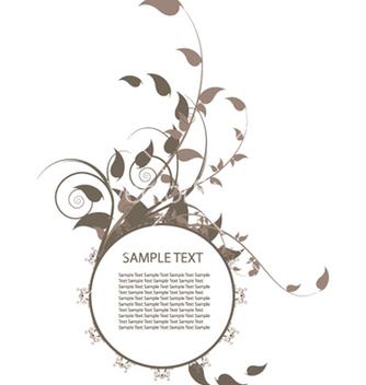 Free floral frame vector - Kostenloses vector #244403