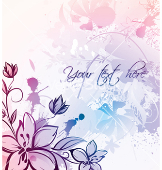 Free watercolor floral vector - vector gratuit #244463