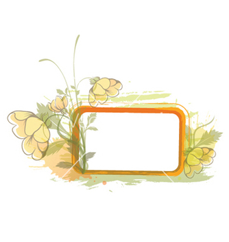 Free grunge floral frame vector - Free vector #244633