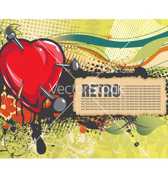 Free heart with floral and grunge vector - Free vector #244653
