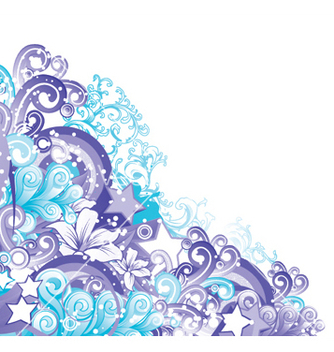 Free abstract floral vector - Kostenloses vector #244753