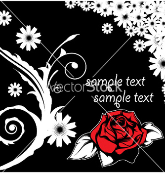 Free floral background with rose vector - Free vector #244773