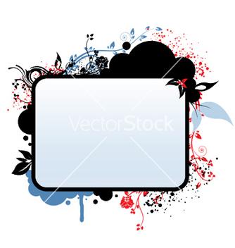 Free vintage floral frame vector - Kostenloses vector #244853