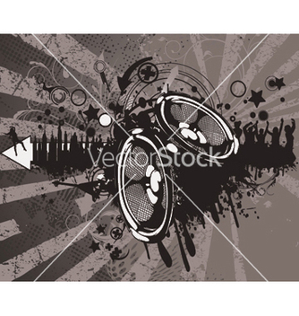 Free concert wallpaper with speakers vector - Kostenloses vector #244933