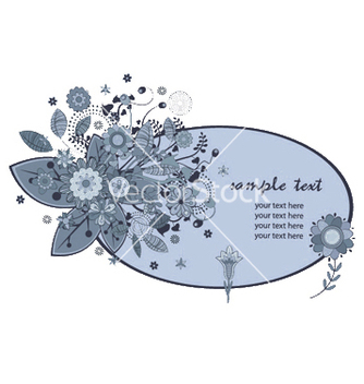 Free floral frame vector - Free vector #245023
