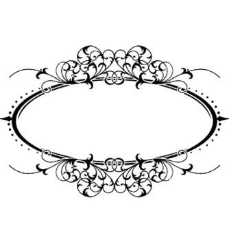 Free vintage floral frame vector - Kostenloses vector #245133