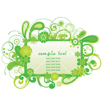 Free spring floral frame vector - Free vector #245193