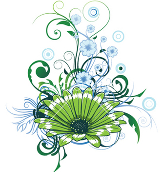 Free abstract flower with circles vector - Kostenloses vector #245443