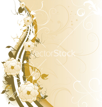 Free vintage background with floral vector - Free vector #245603