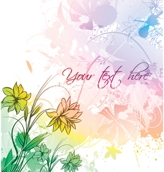 Free watercolor floral vector - vector gratuit #245653