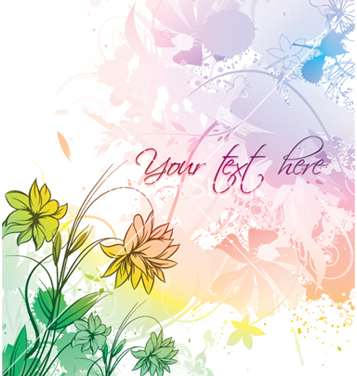 Free watercolor floral vector - vector #245653 gratis