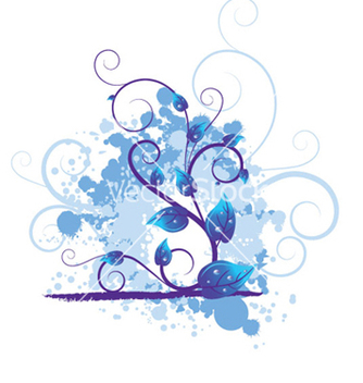 Free blue floral vector - Free vector #245673