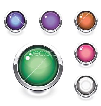 Free glossy buttons set vector - Free vector #245803