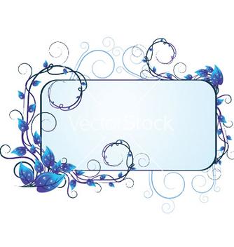 Free blue floral vector - Kostenloses vector #246013