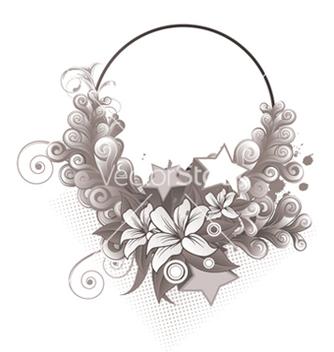 Free splash floral frame vector - бесплатный vector #246023