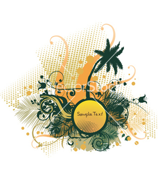 Free summer with palm tree vector - Kostenloses vector #246233