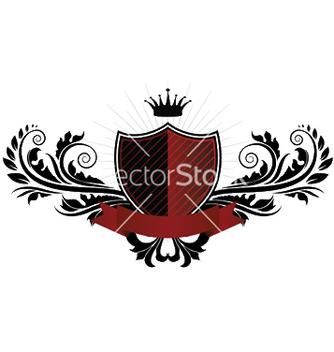 Free vintage emblem with shield vector - Kostenloses vector #246303