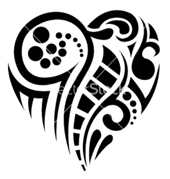 Free tatoo heart vector - Free vector #246343