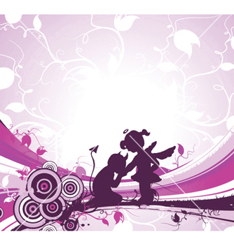 Free valentine background vector - Free vector #246603
