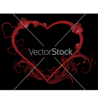 Free vintage heart with roses vector - Free vector #246653