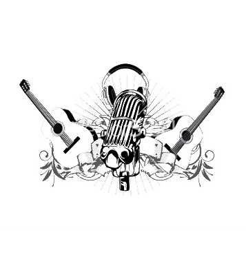 Free vintage music tshirt design vector - vector #246693 gratis