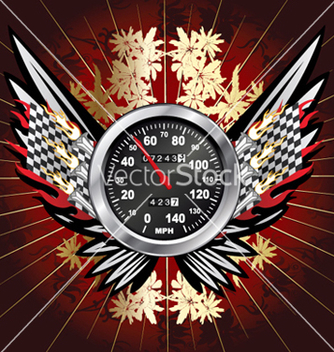 Free speedometer with floral vector - Free vector #246713