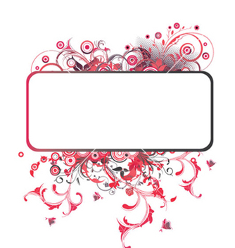 Free floral frame vector - Free vector #246893