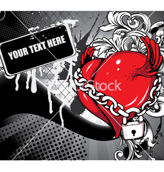 Free heart with grunge and floral vector - Free vector #247223