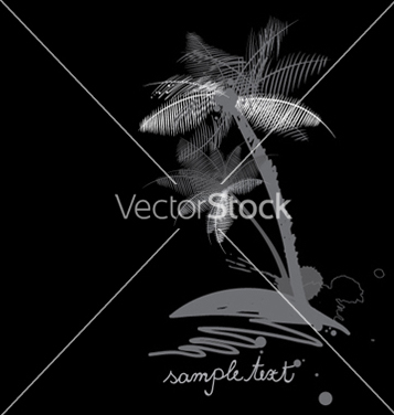 Free vintage summer background with palm trees vector - Free vector #247363