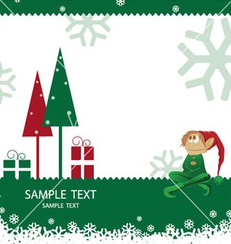 Free christmas greeting card vector - Kostenloses vector #247423