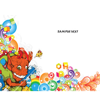 Free funny monsters background vector - Free vector #247463