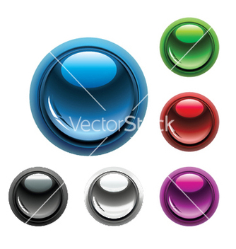 Free glossy buttons set vector - Free vector #247653