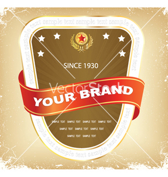Free label with grunge vector - vector #247853 gratis