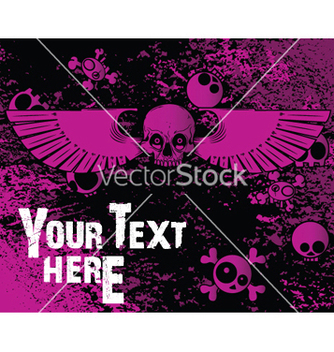 Free emo background with skulls vector - Kostenloses vector #247883